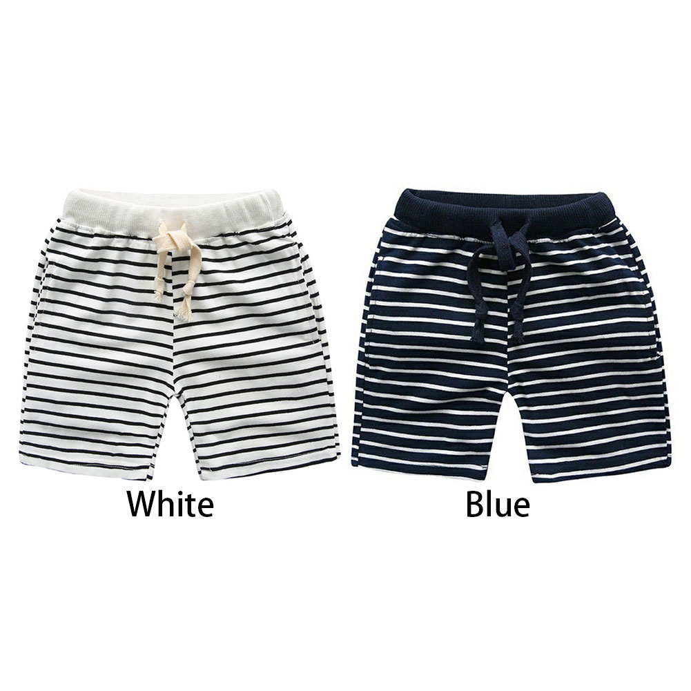 Children Baby Boy Summer Trousers Fashion Stripe Casual Pants Kids Clothes фото
