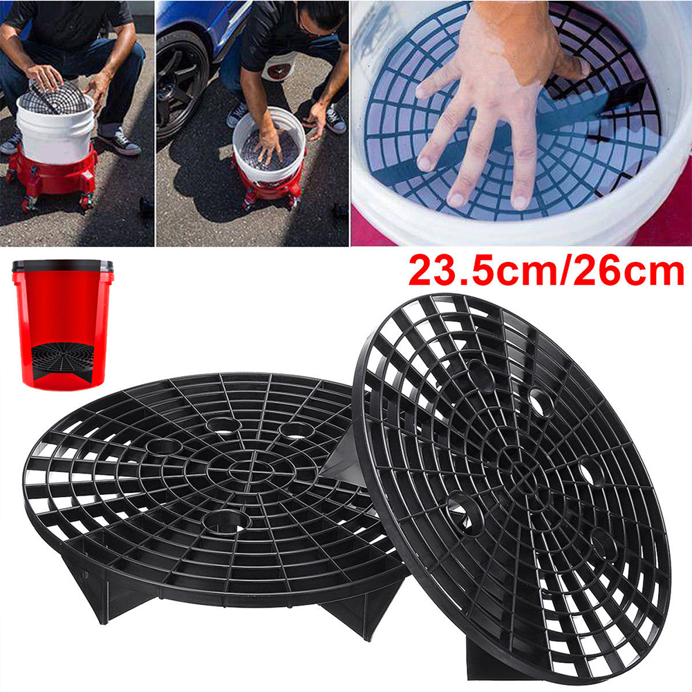 9.3Inch 10.2Inch Car Wash Grit Guard Insert Washboard Water Bucket Filter Scratch Dirt 192 Filter Holes Black фото