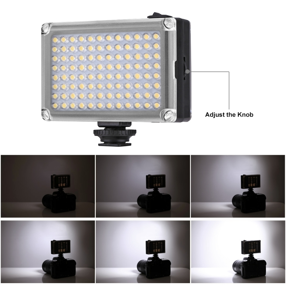 96 LED Professional Photography Video Light with White and Orange Magnet Filters Light Panel for DSLR Cameras фото