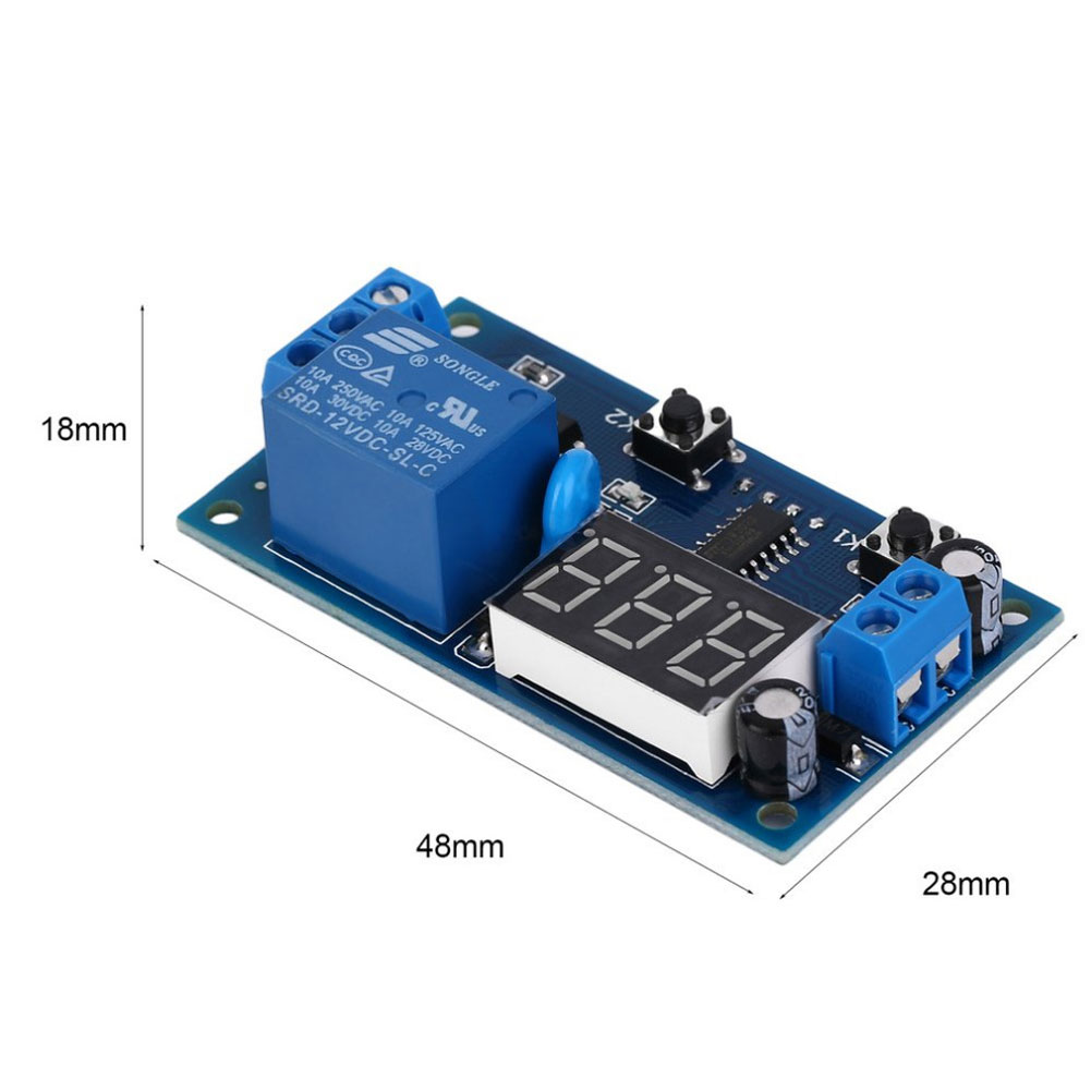 DC 12V Time Relay Module Digital Display Trigger Cycle Time Delay Relay Module Board фото