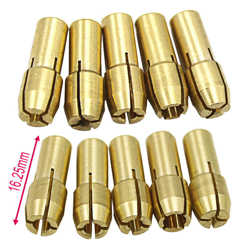 10PCS Brass Drill Chuck Collet Bits Kit 0.5-3.2mm Shank For Rotary Tool фото