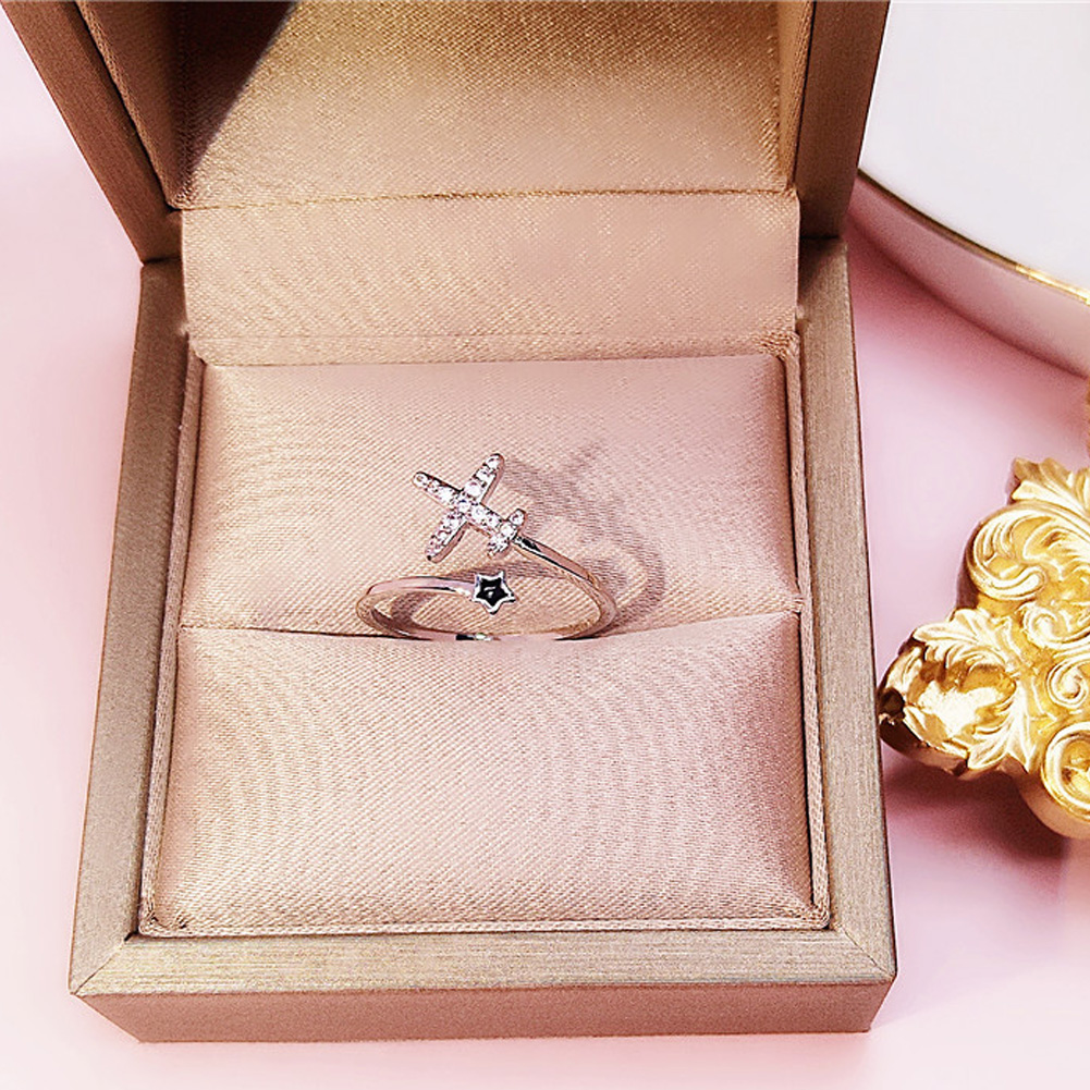 Multi Styles Korean Sweet Delicacy Zircon Swon Heart Flower Open Ring Summer Trend Jewelry Rings фото
