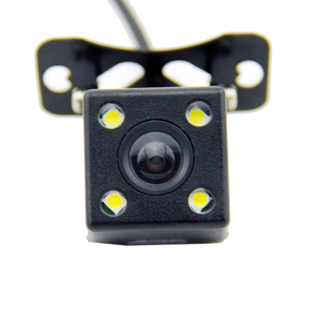 170 Degree Car Rear View Camera Parking Assistance CCD LED Backup Light With Audio Power Cable фото