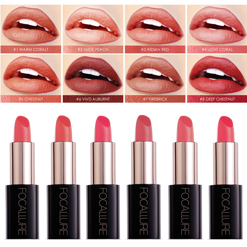 FOCALLURE 20 Colors Women Waterproof Moisturizer Lipstick Easy to Wear Long Lasting Lip Makeup Cosmetics фото