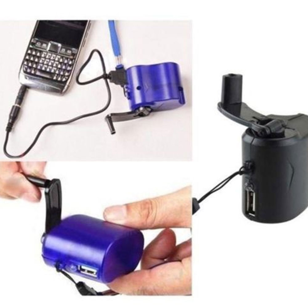 USB Hand Crank Charger Generator Manual Dynamo Mobile Emergency Phone Charger фото