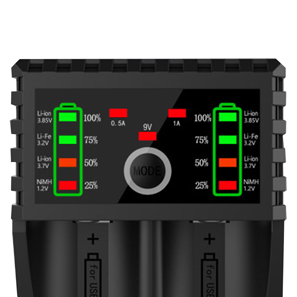 BTY-V202+ Ni-MH Ni-CD Li-ion battery charger Smart fast charging AA AAA 18650 16340 14500 Battery Charger USB Output фото