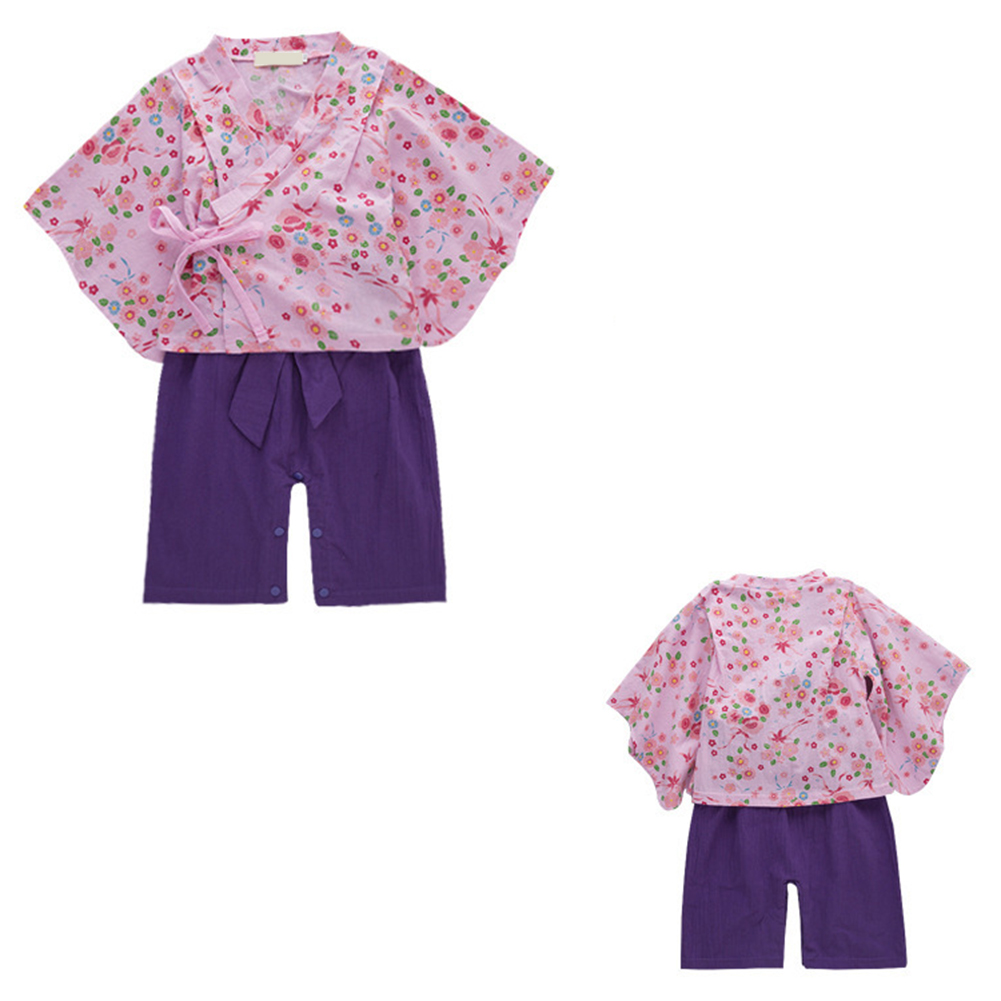 Toddler Kids Baby Girl Japanese Style Print Rompers Jumpsuit Baby Boy Set Top +Pants фото