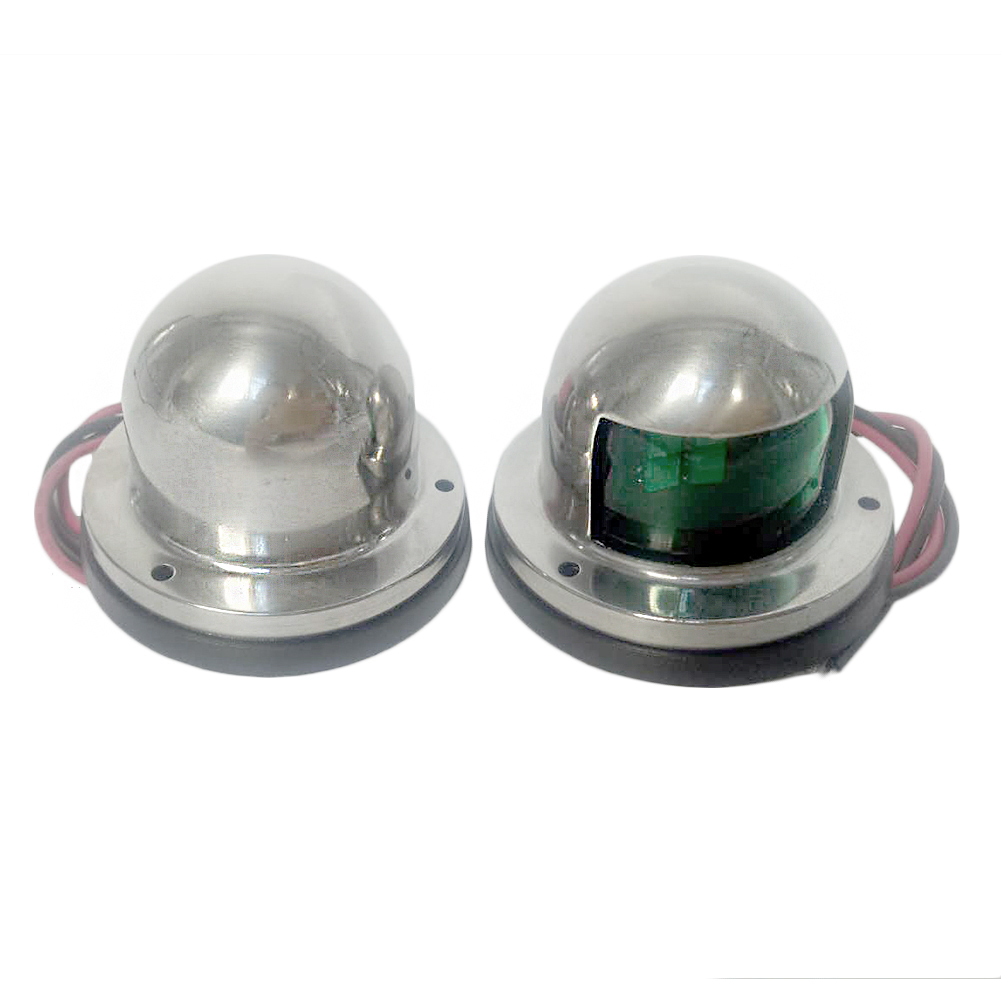 Marine Boat Yacht Pontoon 12v Stainless Steel LED Bow Navigation Lights 1 Pair фото