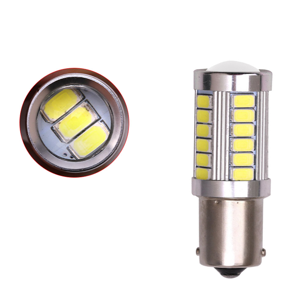 1Pcs LED Car Bulb 1156 Backup Reverse Light 33-SMD 5630 5730 12V BA15S P21W фото