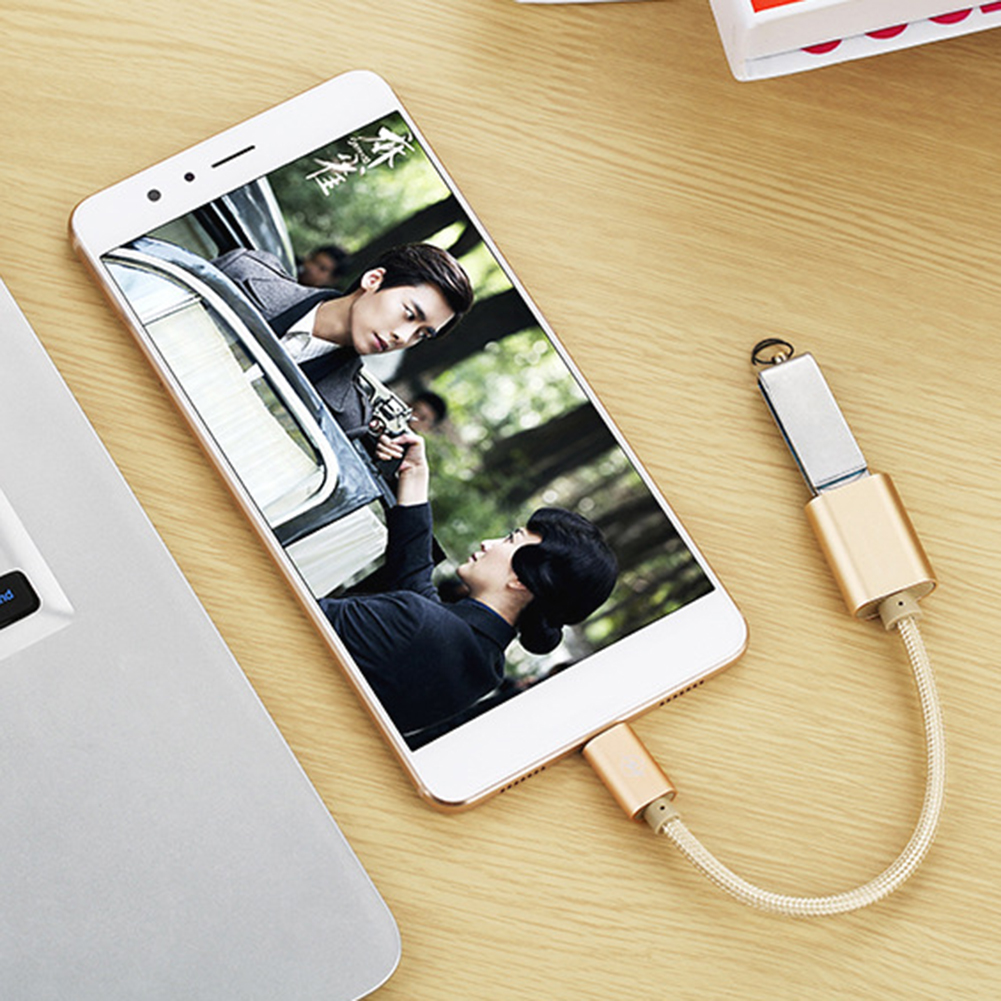 Micro USB to USB 2.0 OTG Data Host Cable Adapter for Android Samsung S5 S6 фото