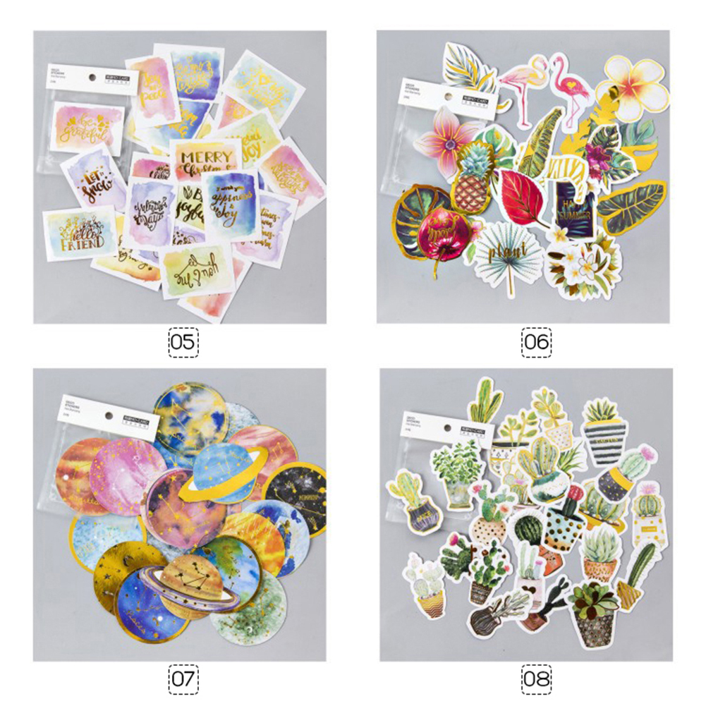 24pcs Lot Hot Stamping Stickers Scrapbooking Diary Stationery Album DIY Decoration фото