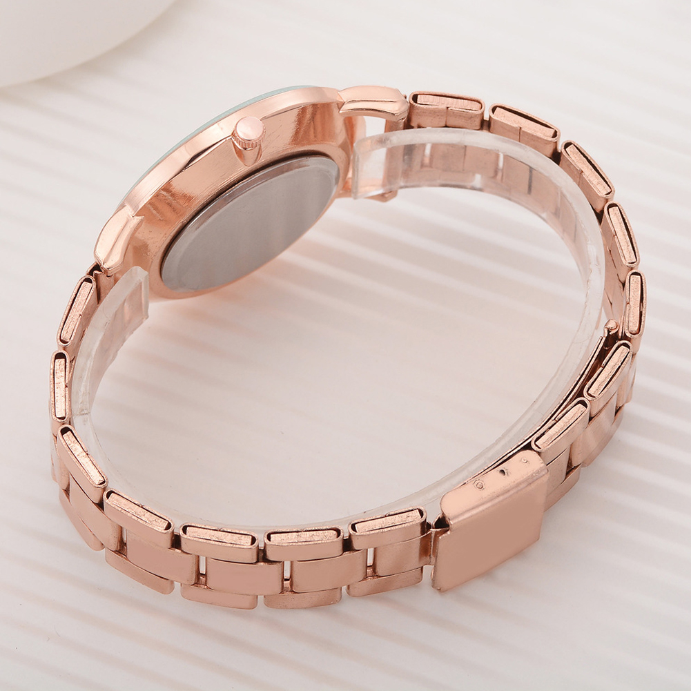 8SEASONS Simple Shell Plate Quartz Wrist Watches Alloy Watchband Rose Gold Silver Color Women Men Watch Clock Jewelry, 1 Piece фото