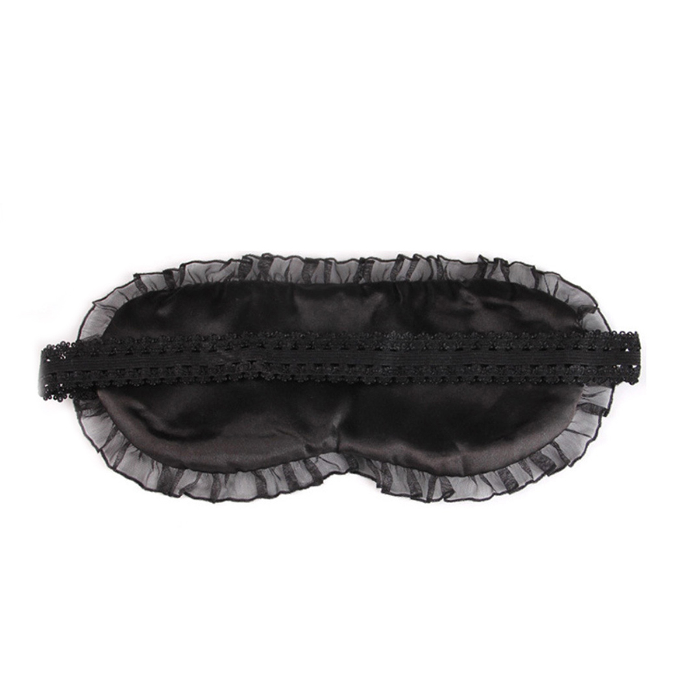 Sweet Dream Lace Sleeping Eye Mask Soft Black Eye Shade Bandage for Travel Rest фото