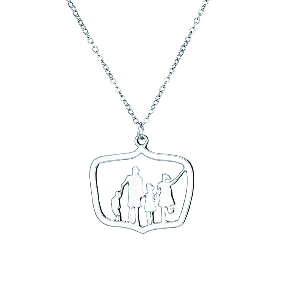 925 Silvering Family Members Pendant Choker Necklace Silver Color Short Chain Necklaces Fashion Jewelry Christmas Gifts for Families фото