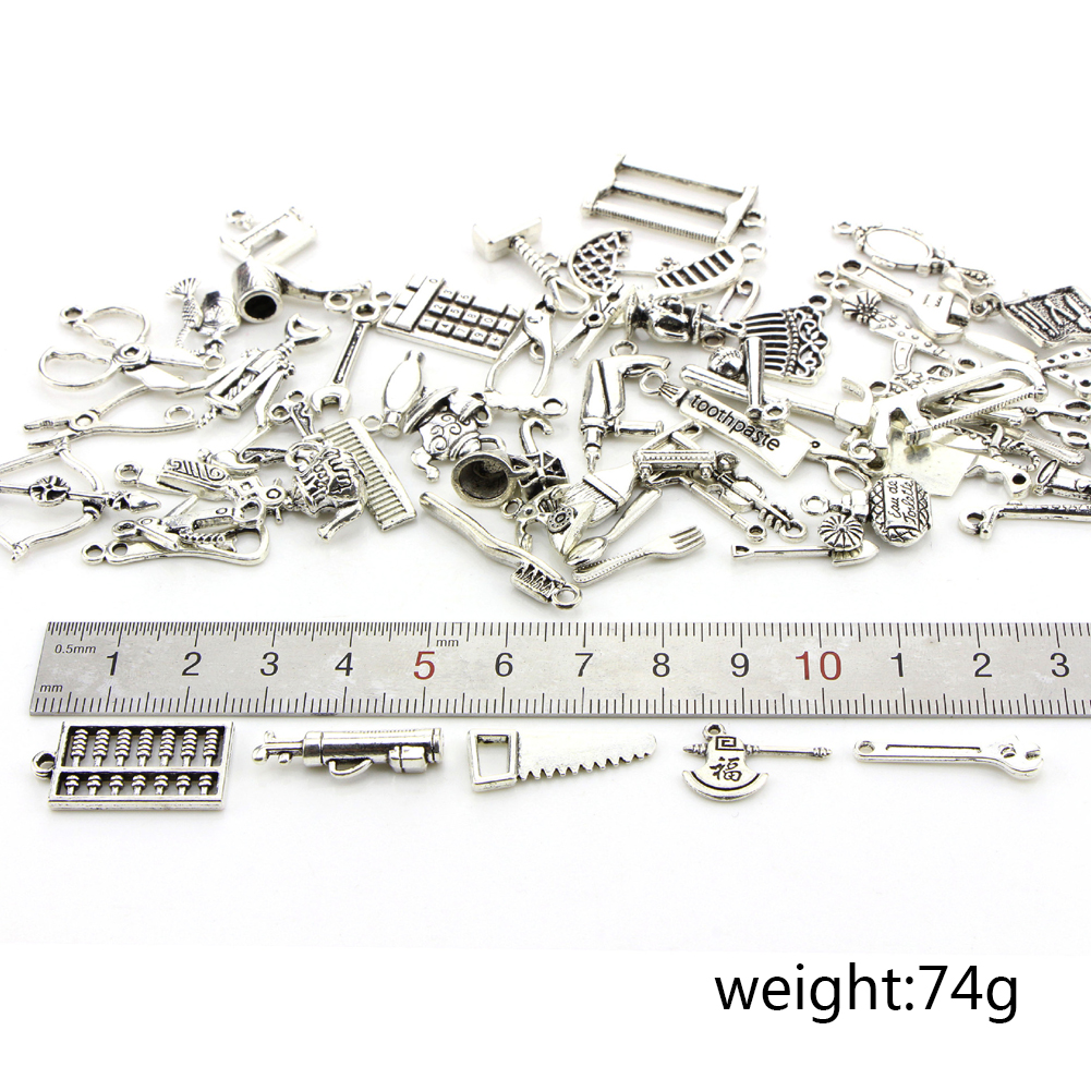 Wholesale 65pcs Bulk Lots Tibetan Silver Mix Charm Pendants Jewelry DIY Living Tools Elements фото