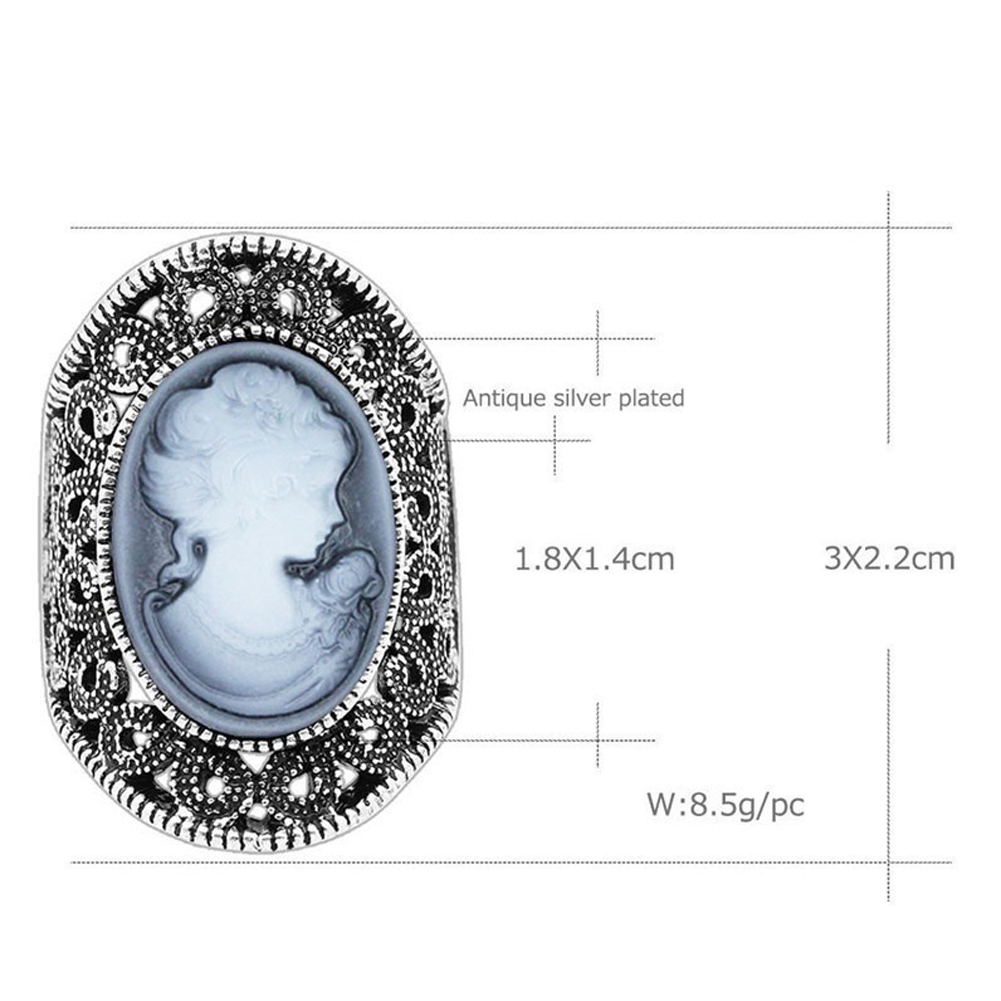Fashion Retro Head Portrait Ring Royal Palace Style Jewelry For Women Girls Wedding Birthday Party Ring Gift фото