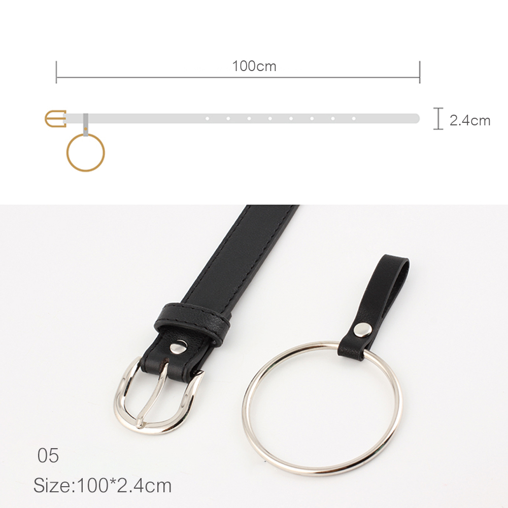 Womens Fashion Casual Ring Leather Belt Ladies Pin Buckle PU Belt фото