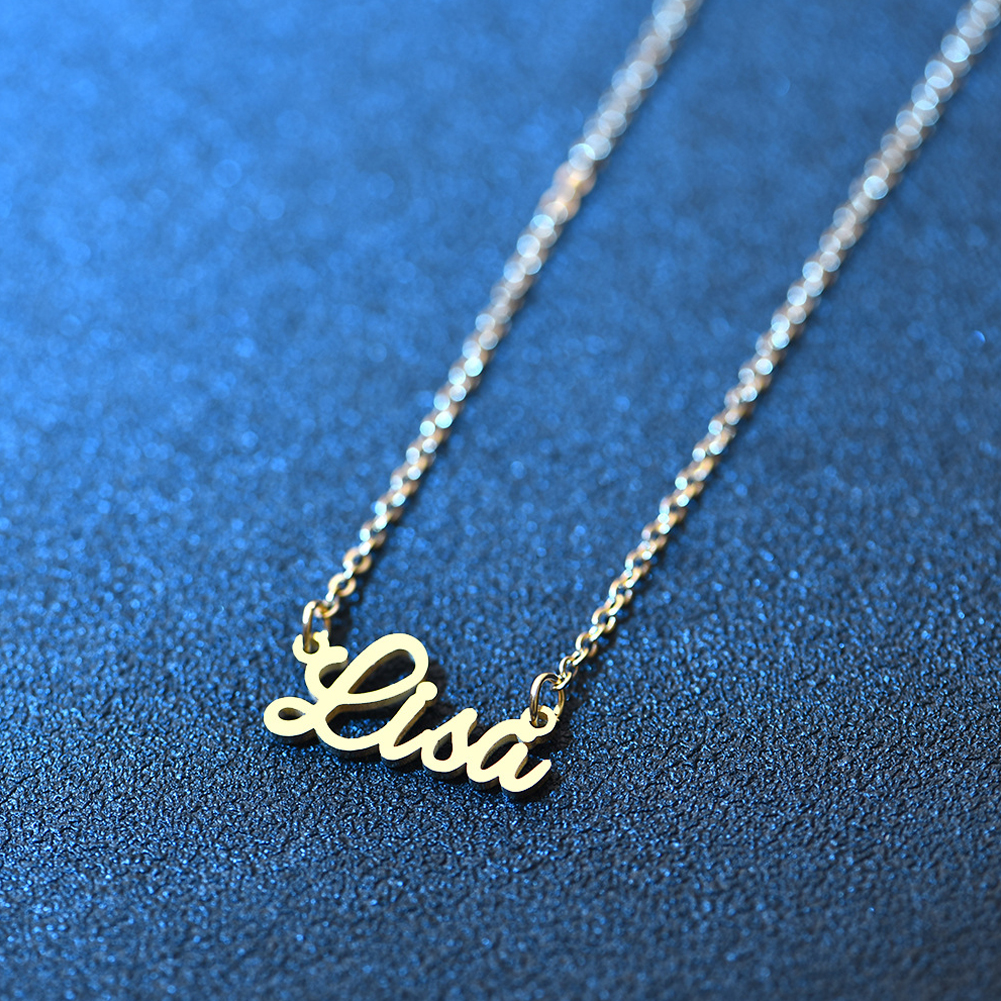 Personalized Name Necklace Gold Pendant Necklace Fashion Chain Choker Necklace Great Jewelry Gift For Women Girls фото