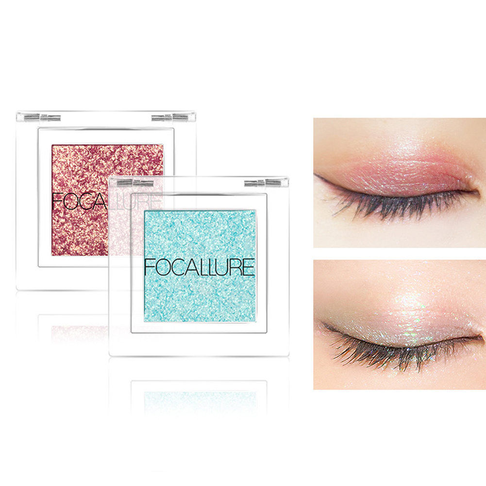 Focallure 12 Color Eyeshadow Glitter Powder Pigment Metallic Shiny Holographic Eye Toppers Single Eye Shadow Makeup фото