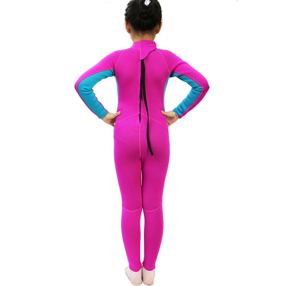 Kids Wetsuit Snorkeling Neoprene 2.5mm Thick Long Sleeve UV Protection Protection Diving Suit For Girls Boys фото