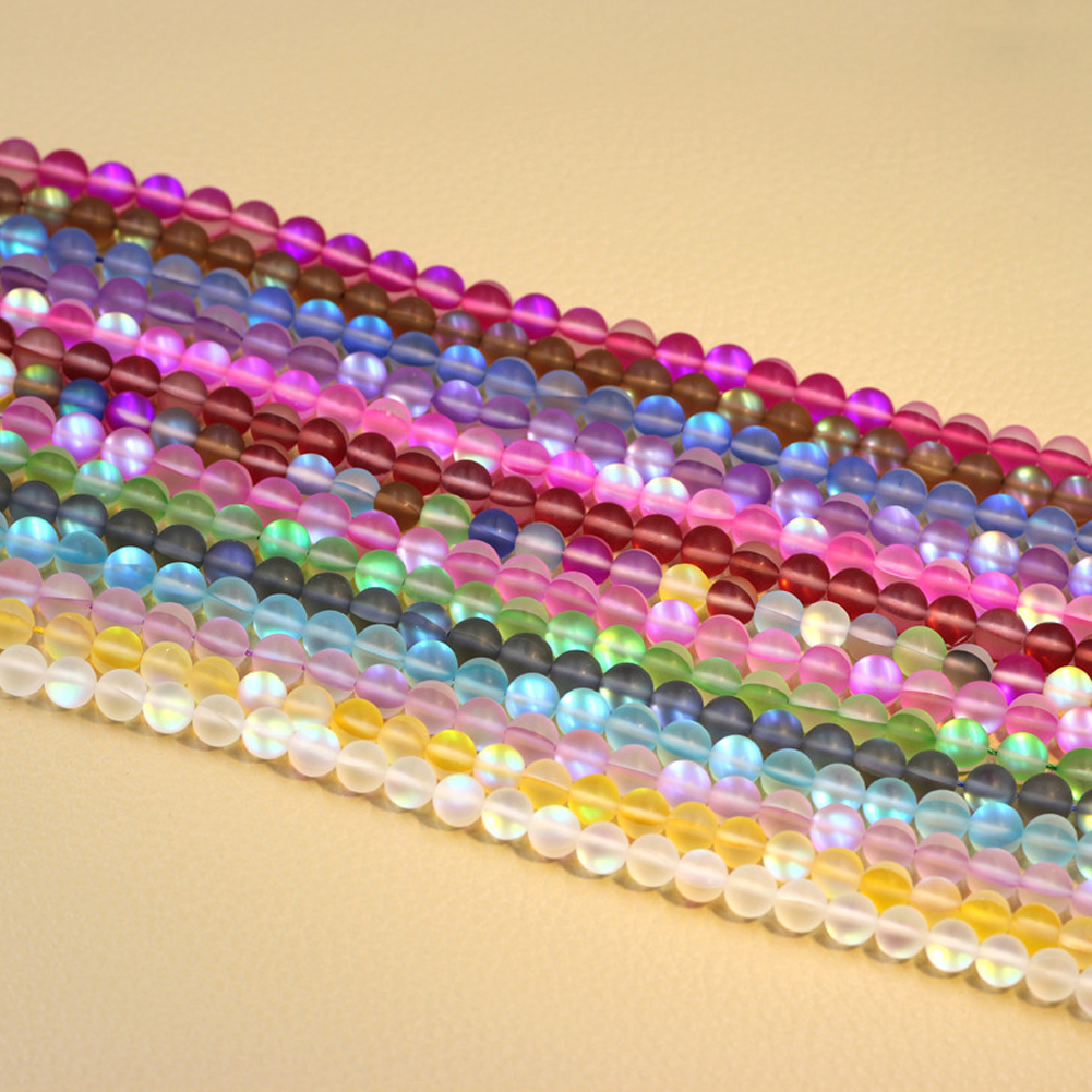 10mm Quartz Gemstone Loose Beads DIY Transparent Moonstone Beads Bracelet Necklace Materials 6 Colors Available фото