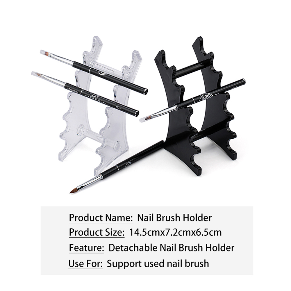 Durable Nail Art Brush Holder Simple Rack Accessory Carving Manicure Tool Acrylic Holder Stand фото