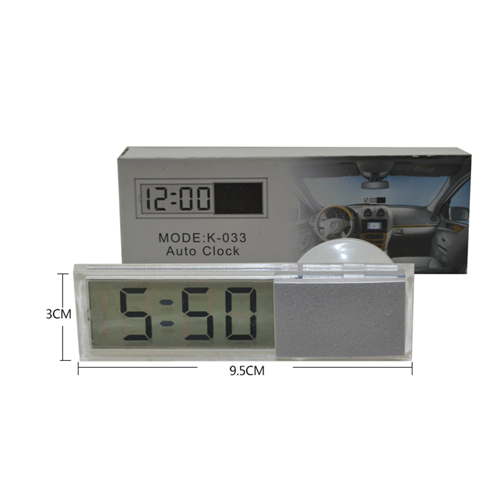 Durable Electronic Clock Suction Cup Digital LCD Display Portable For Home and Car фото