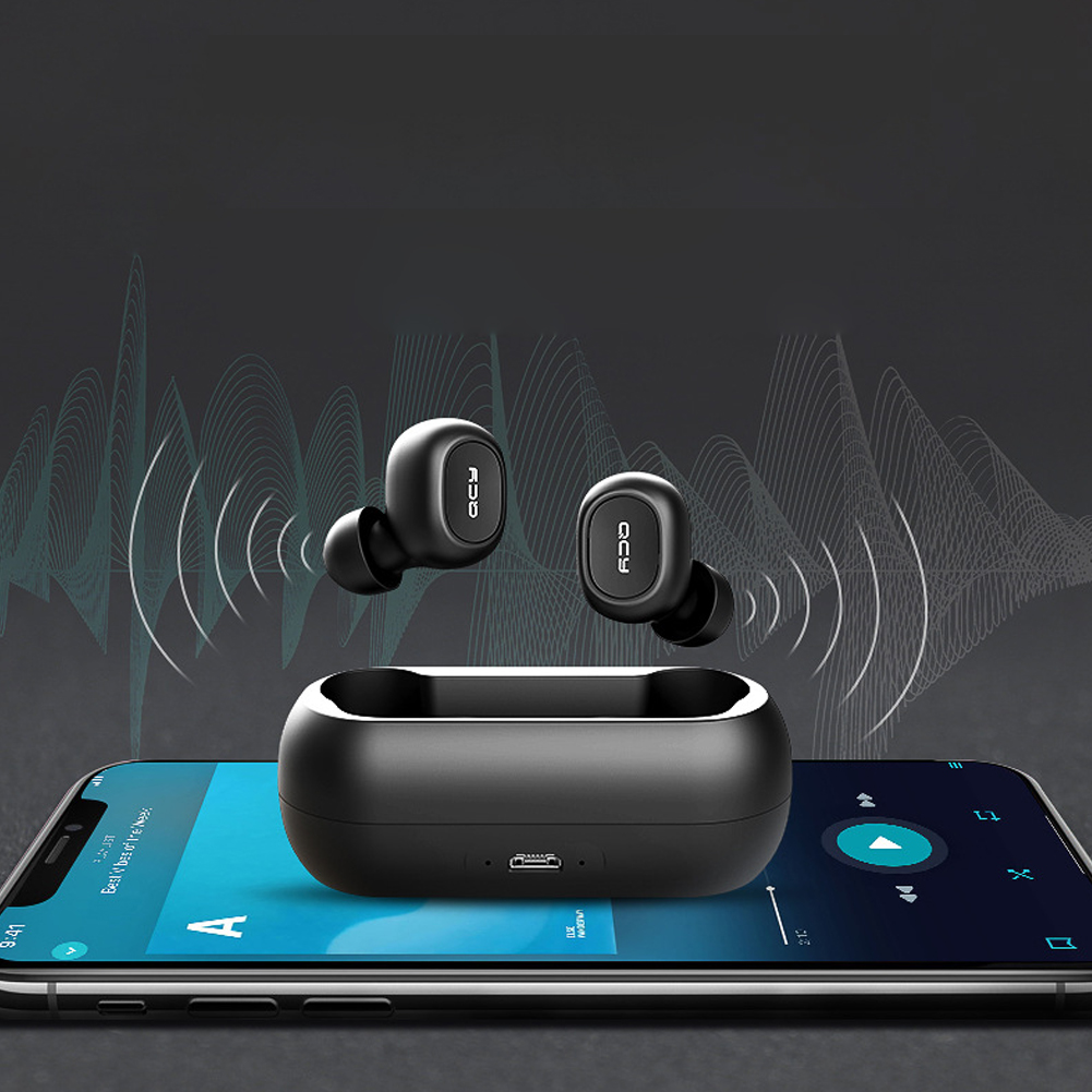 QCY QS1 TWS 5.0 3D Stereo Wireless Bluetooth Headset Earphone with Dual Microphone фото