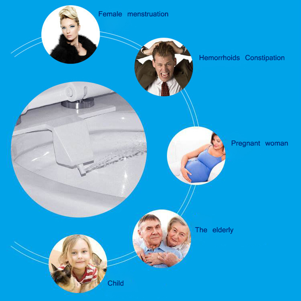 Bathroom Smart Toilet Bidets Self-Cleaning Bidet Water Spray Seat Set Attachment Non-Electric Kit New фото