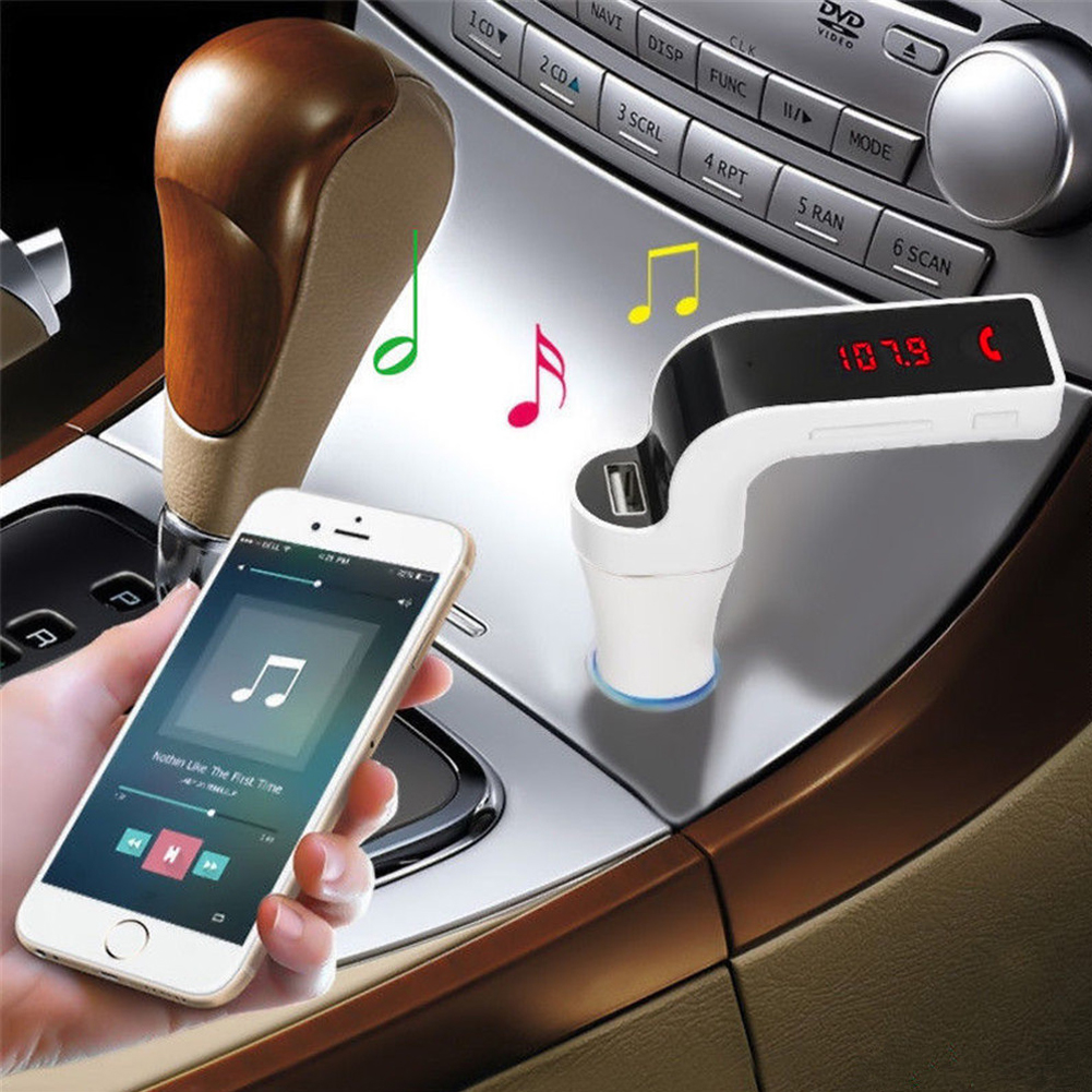 G7 Hands-free Bluetooth Car Kit FM Transmitter USB Charger Adapter MP3 Player фото