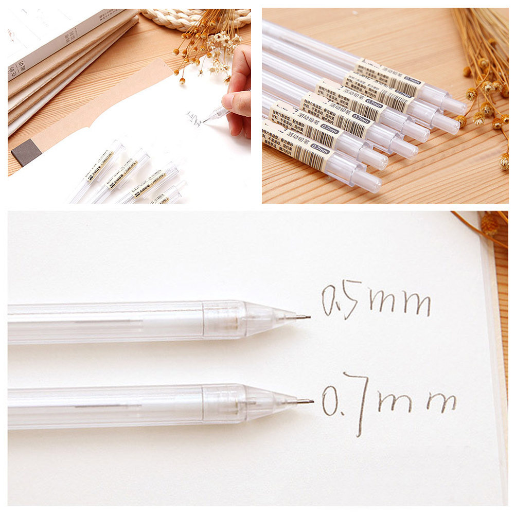 0.5/0.7mm Transparent Automatic Pencils Plastic Mechanical Pencil For Kids Gifts Office School Supplies фото