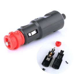 12V-24V Car Cigarette Lighter Power Connection Cigaret Socket Adaptor Male Plug